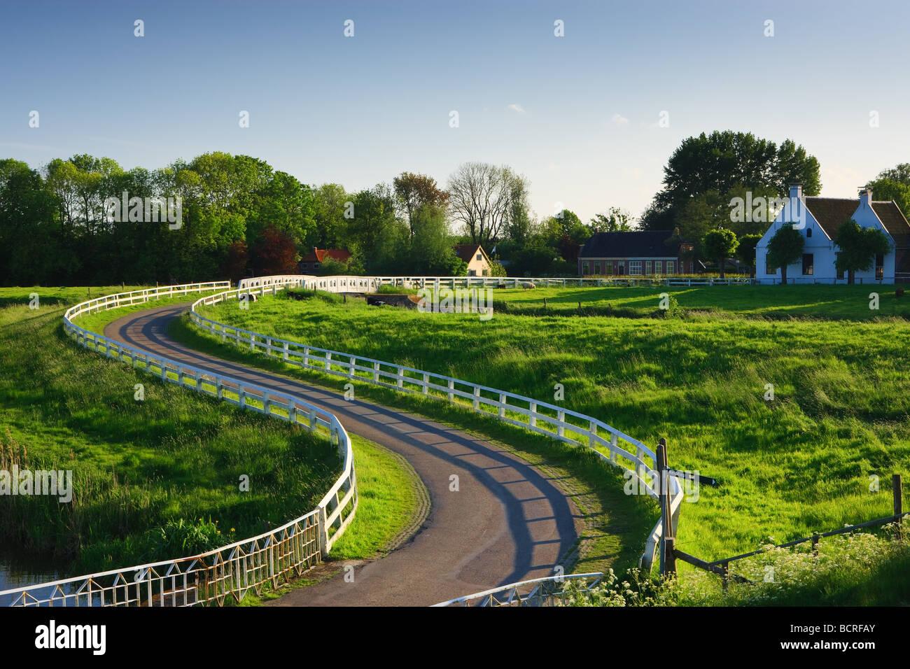 Aduarderzijl Groningen Netherlands - Stock Image