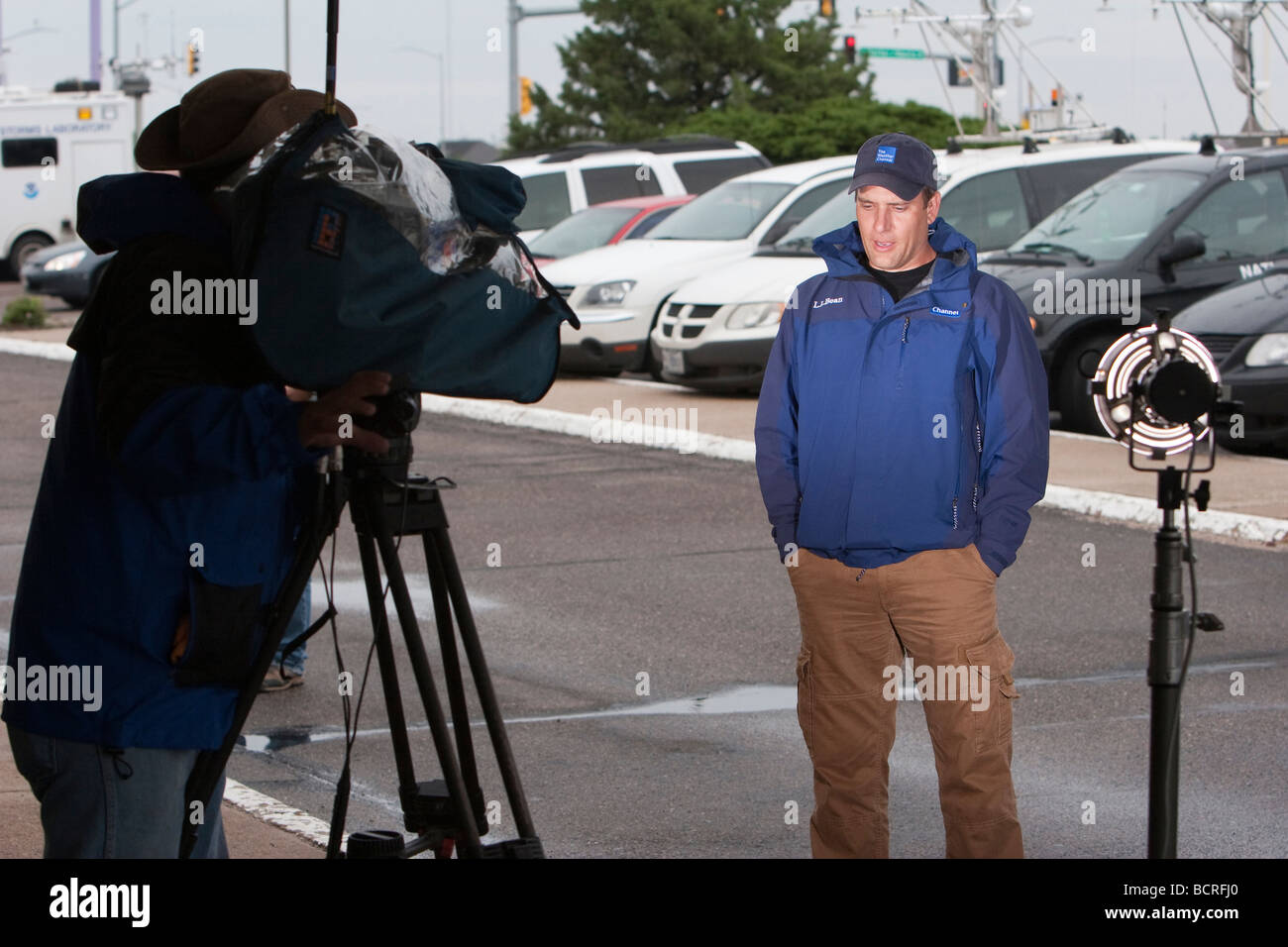 Mike Bettes of The Weather Channel gives a live report