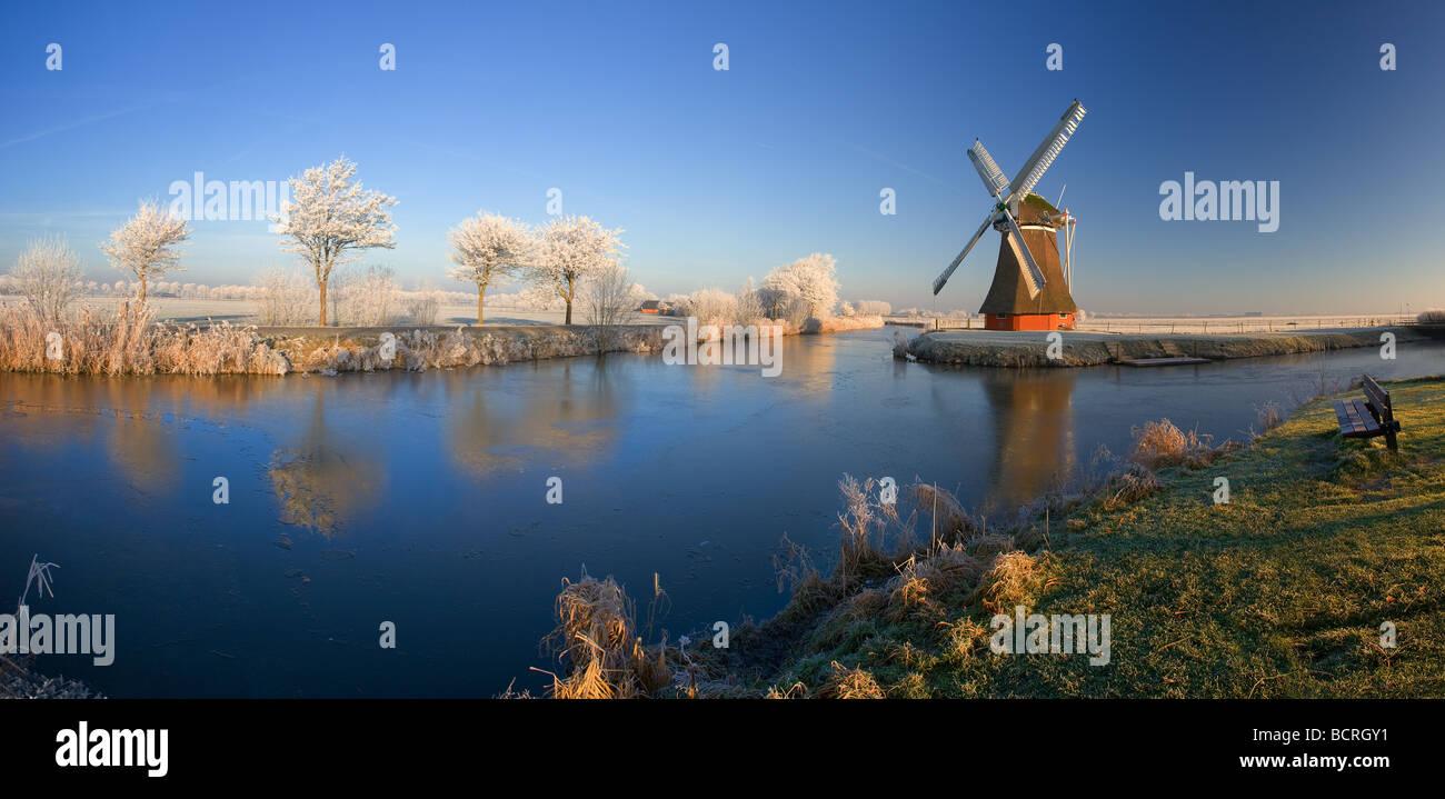 Krimstermolen Zuidwolde Groningen Netherlands - Stock Image