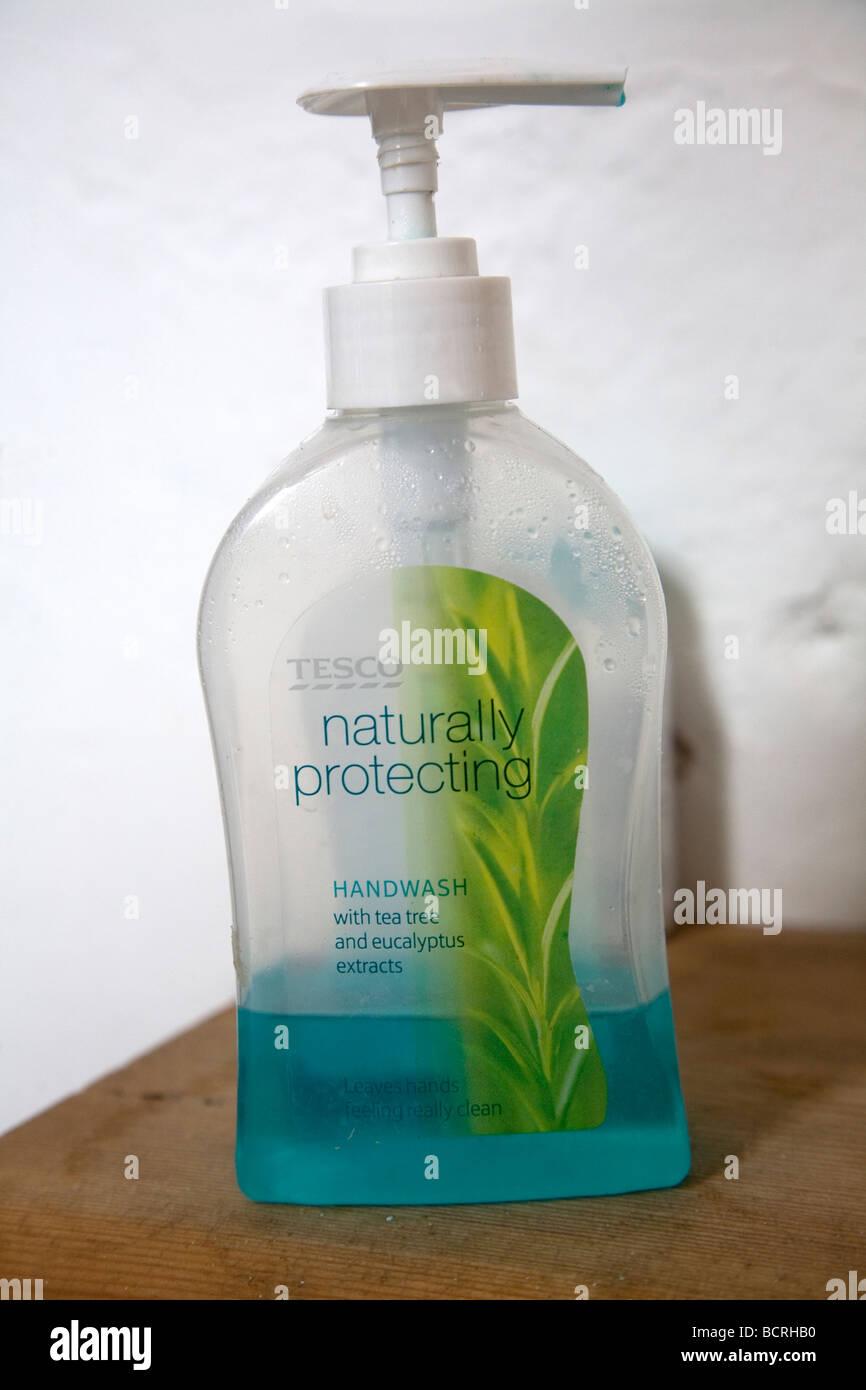 Hand wash soap dispenser - Stock Image