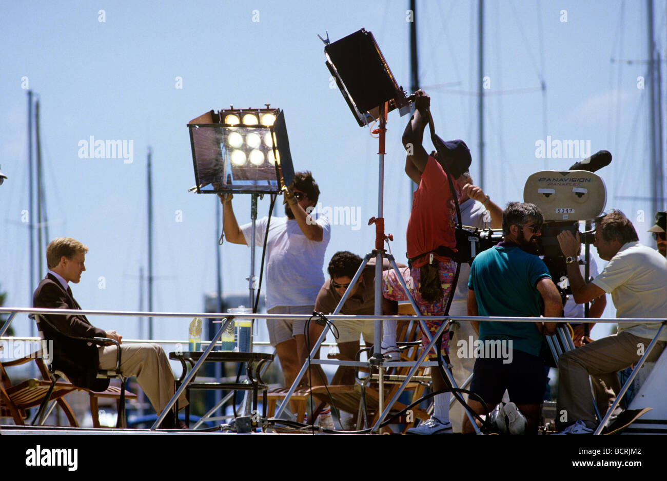 film production crew lighting a scene - Stock Image & Film Production Crew Lighting Scene Stock Photos u0026 Film Production ...