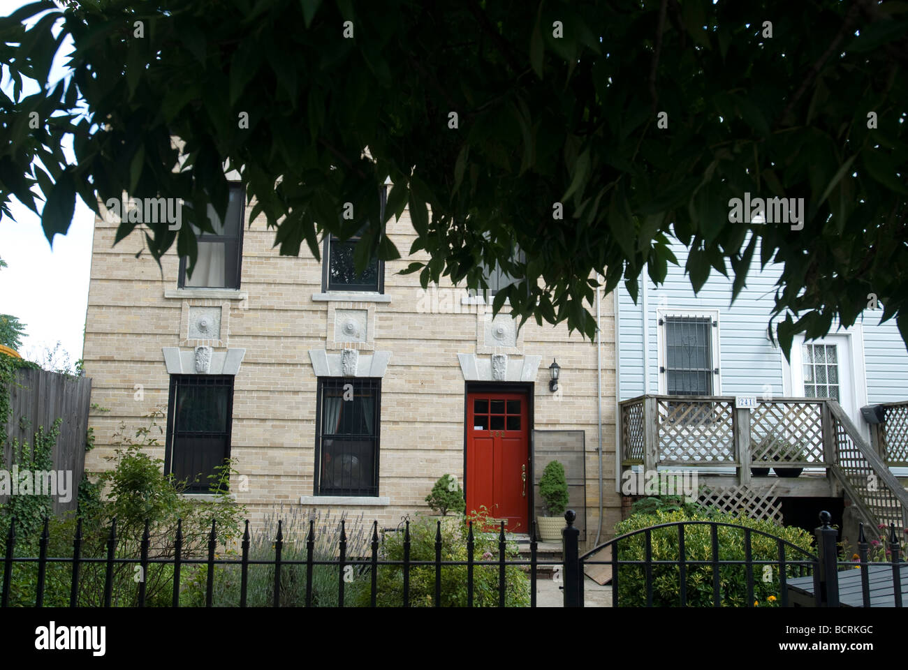 A small home in the Red Hook neighborhood of Brooklyn in New York Stock Photo