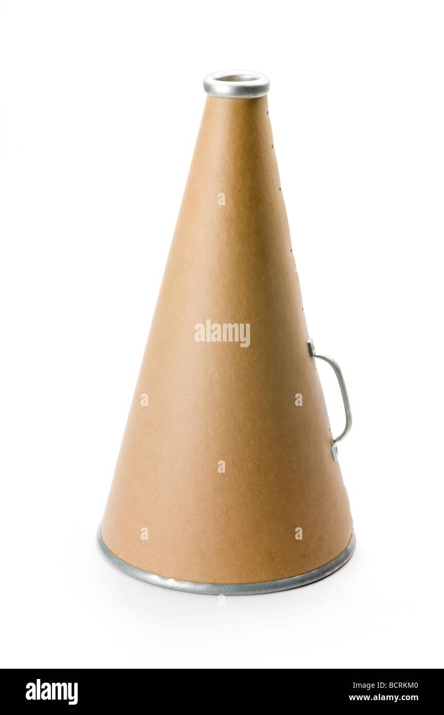 megaphone on white - Stock Image