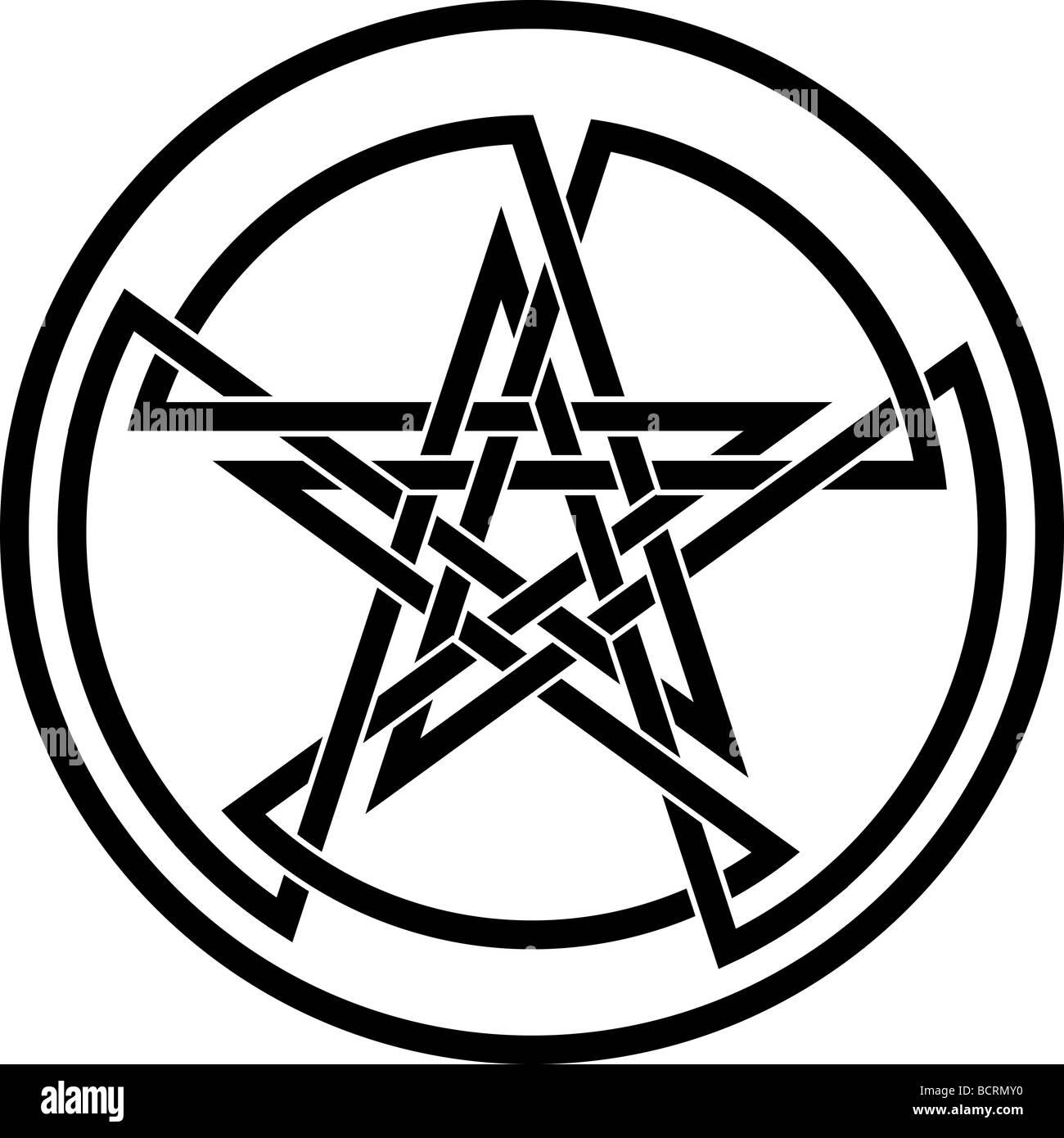 Double Pentagram Tattoo T Shirt Design Stock Photo 25107572 Alamy