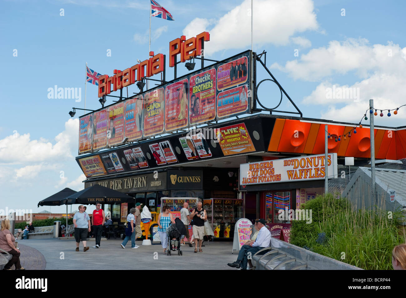 The Brittania Pier, Great Yarmouth. - Stock Image