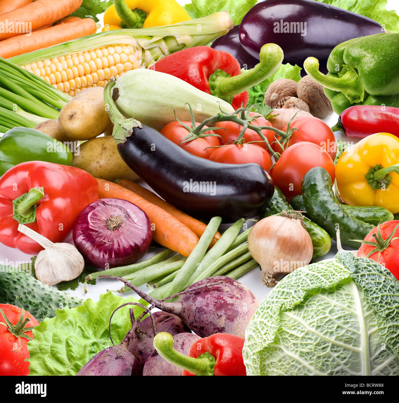 Vegetables on a white background Stock Photo