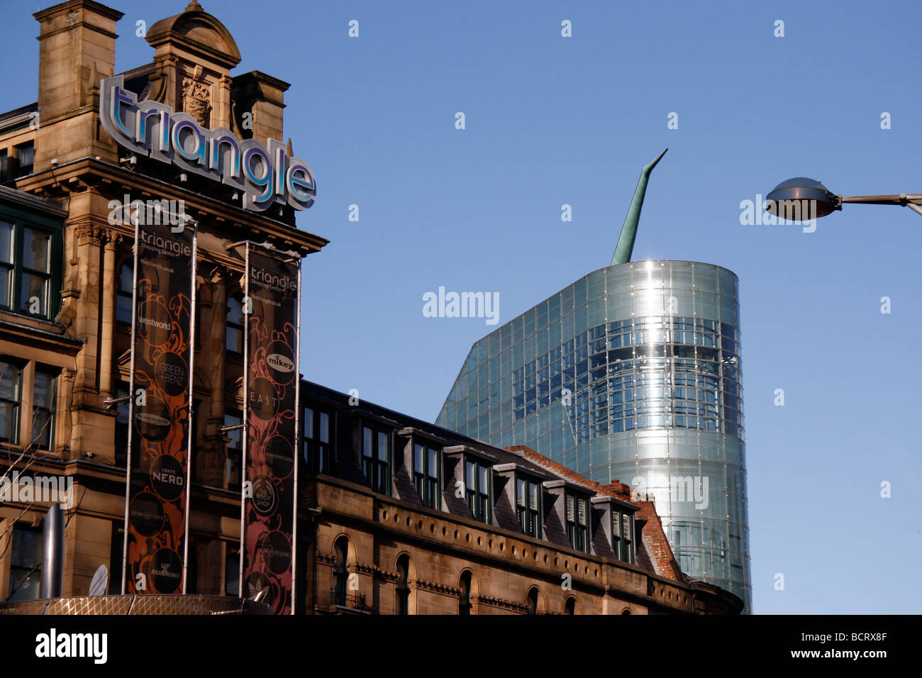The Triangle and The Urbis Centre in Manchester City Centre UK Stock Photo