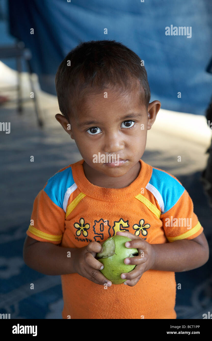 Painet jq3993 people child children kid timor leste camp for internally displaced idps located police academy in - Stock Image