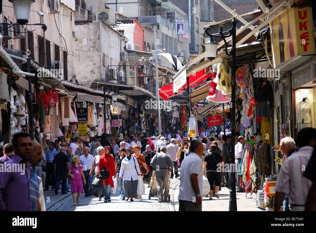 ISTANBUL, TURKEY. A busy street in Cagaloglu district near ...