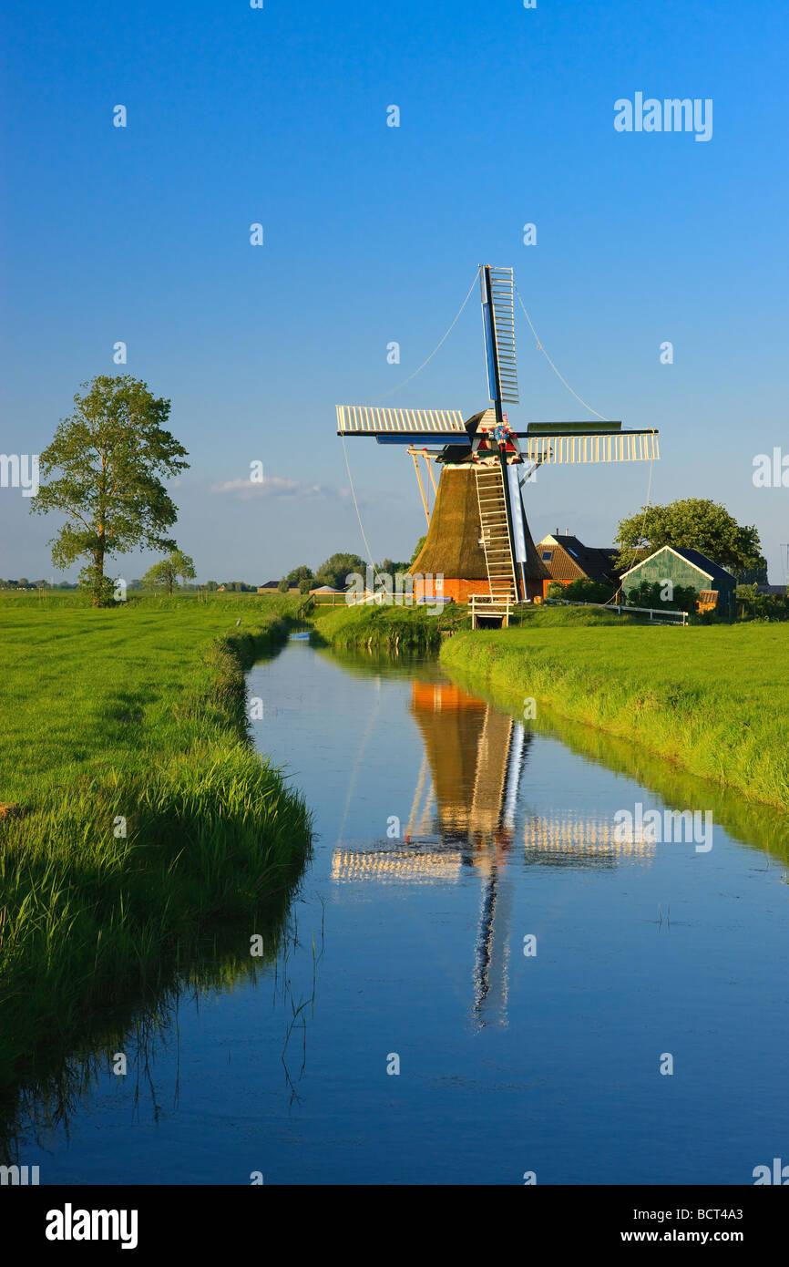 Windmill The Eolus Aduard Groningen Netherlands - Stock Image