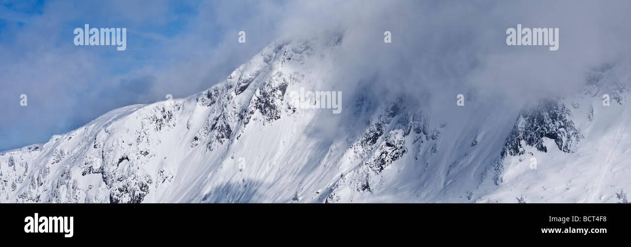 Hoher Goell massif in winter, Berchtesgaden national park, Bavaria, Germany Stock Photo