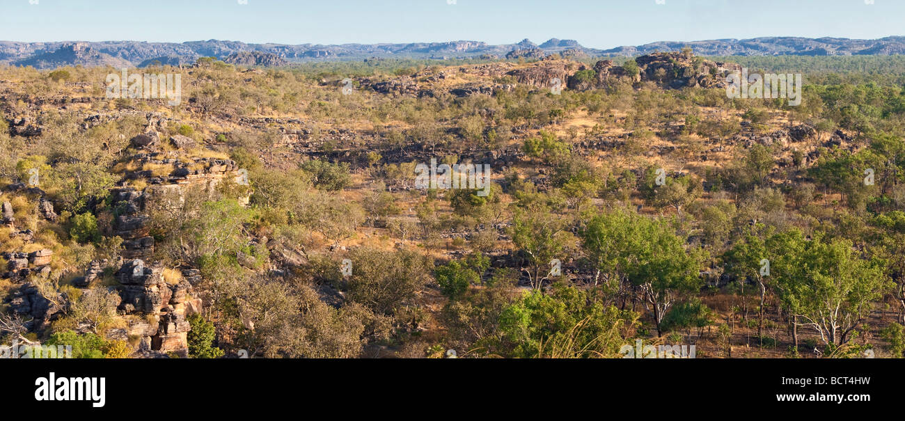 Hills and bushland taken from Ubirr in the northern part of kakadu National Park, Australia - Stock Image