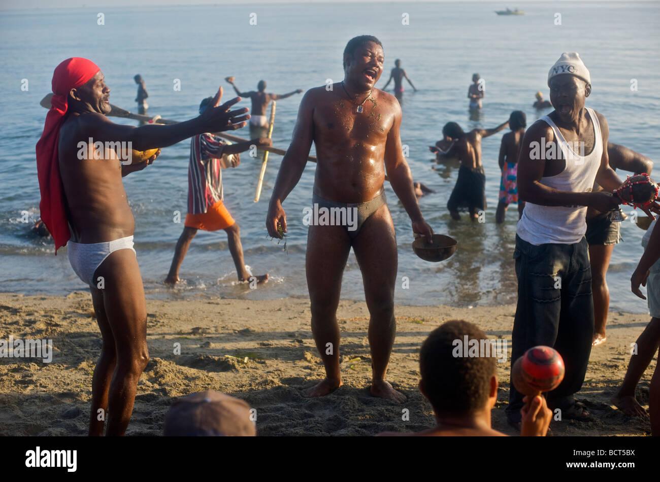 Image Bord De Mer voodoo worshipers dance at bord de mer de limonade, on the