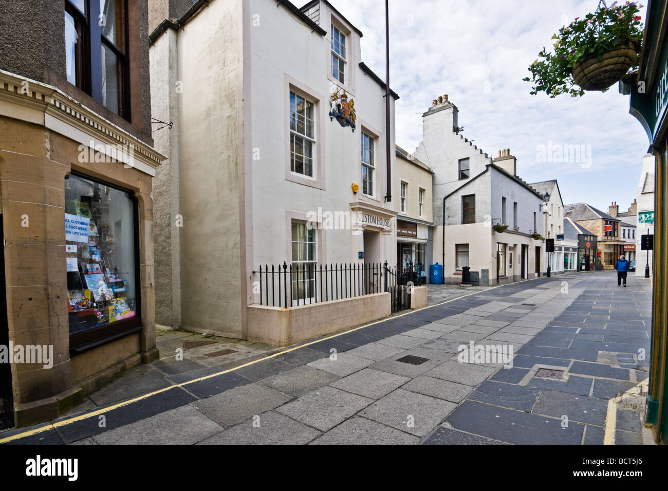 Pedestrianised Albert Street in Kirkwall Orkney Mainland Scotland Stock Photo