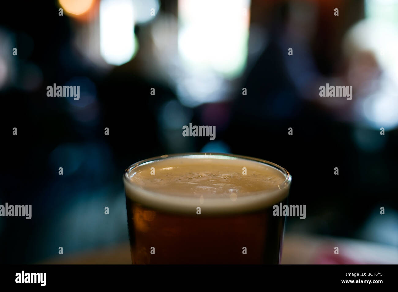 A pint of Beer in a British Pub  2009 - Stock Image