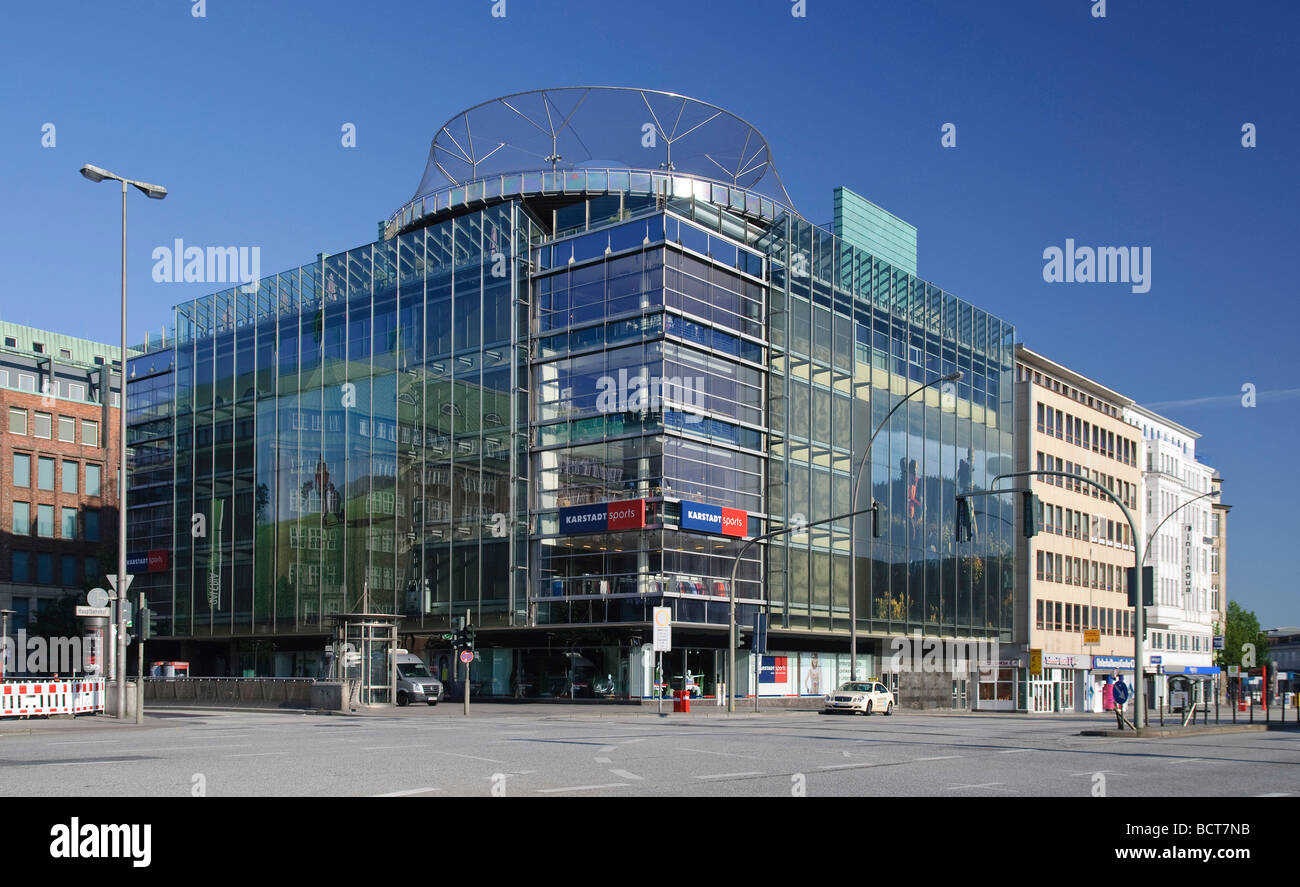 Karstadt Sporthaus sports store, in Moenckebergstrasse shopping street in Hamburg, Germany, Europe Stock Photo