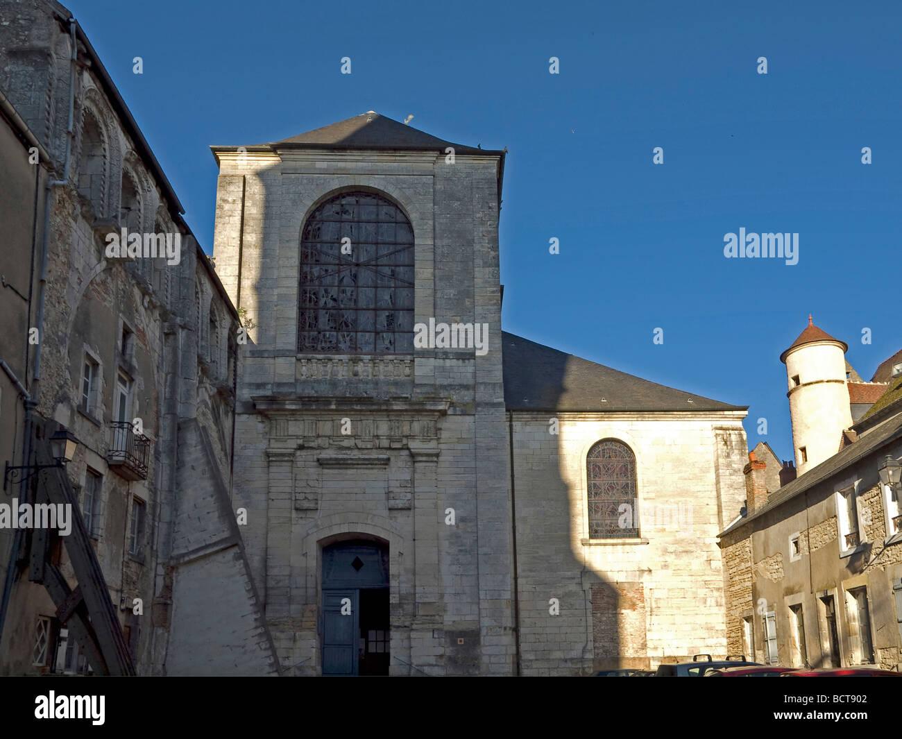Kirche barocke Westfassade in La Charite sur Loire church with baroque westfacade in La Charite sur Loire - Stock Image