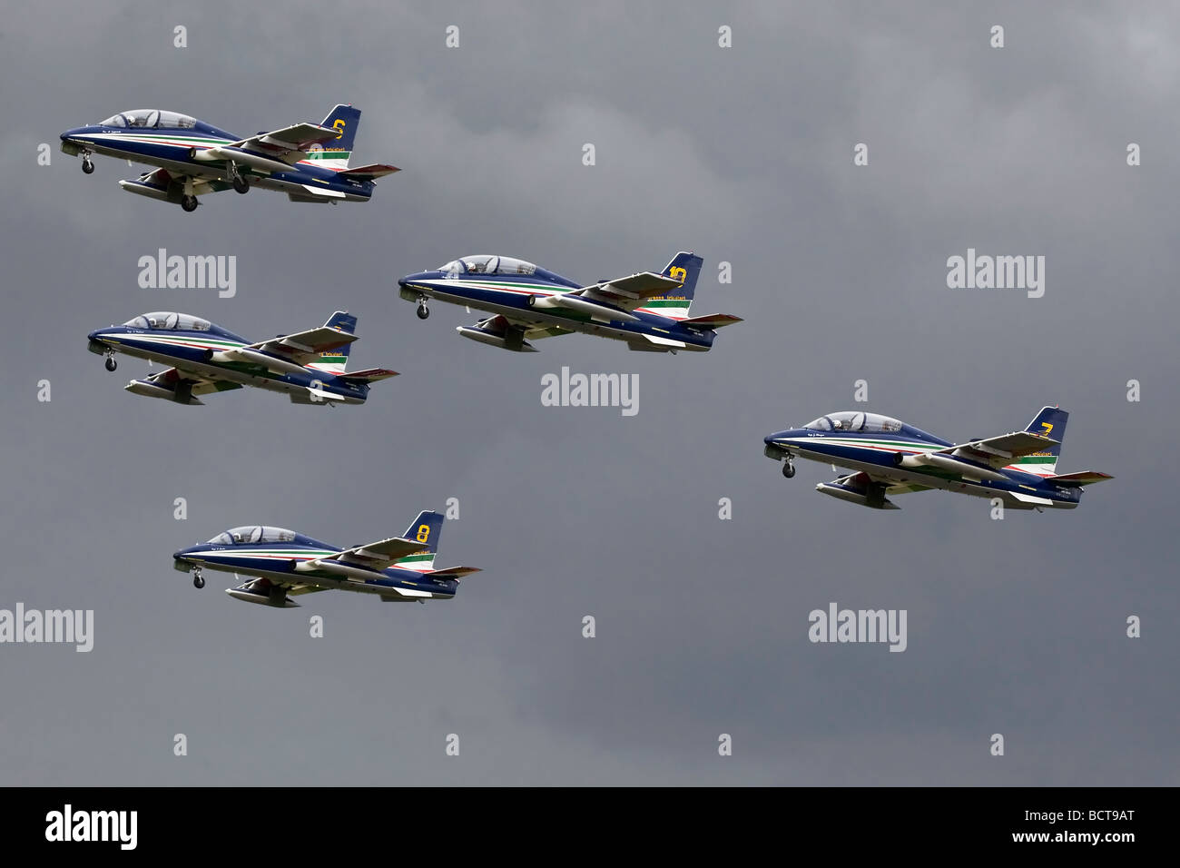 The Italian air force aerobatic team - the Frecce Tricolori Stock Photo