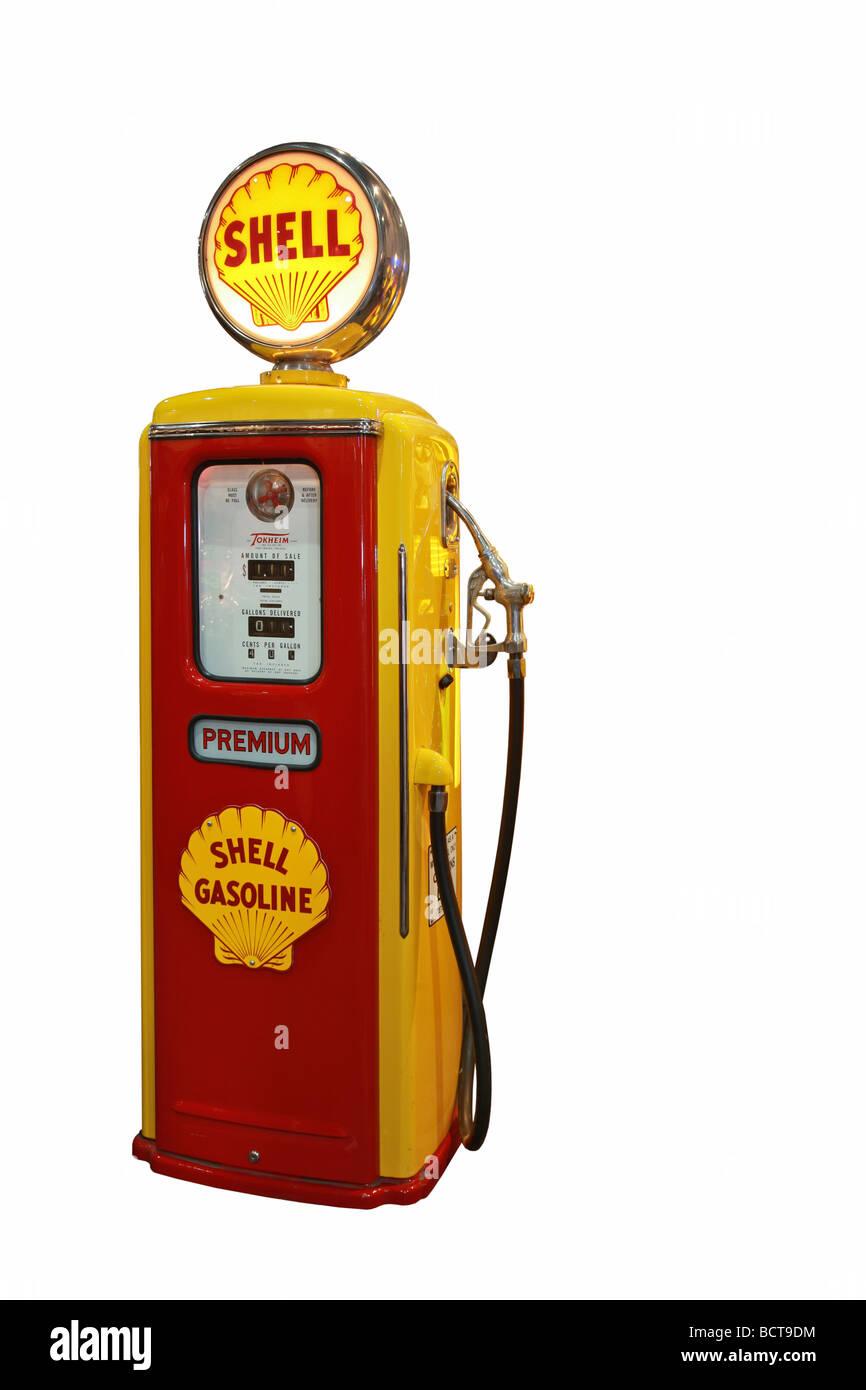 Tokheim pump station 50s, Shell, premium gasoline - Stock Image
