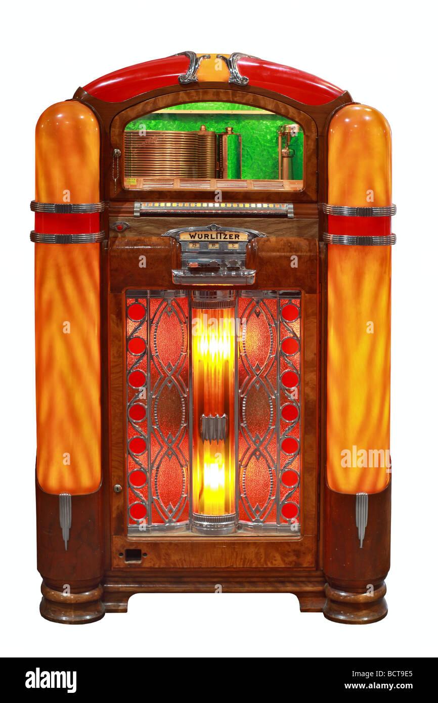Wurlitzer Model 800 from 1940, jukebox Stock Photo