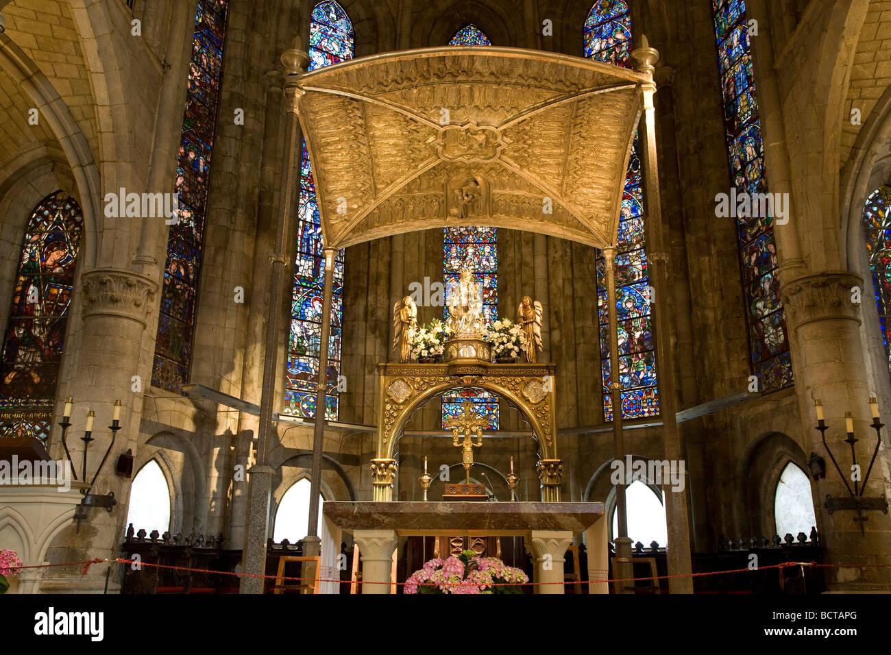 Real Colegiata de Santa Maria Church Roncesvalles Navarra Spain - Stock Image