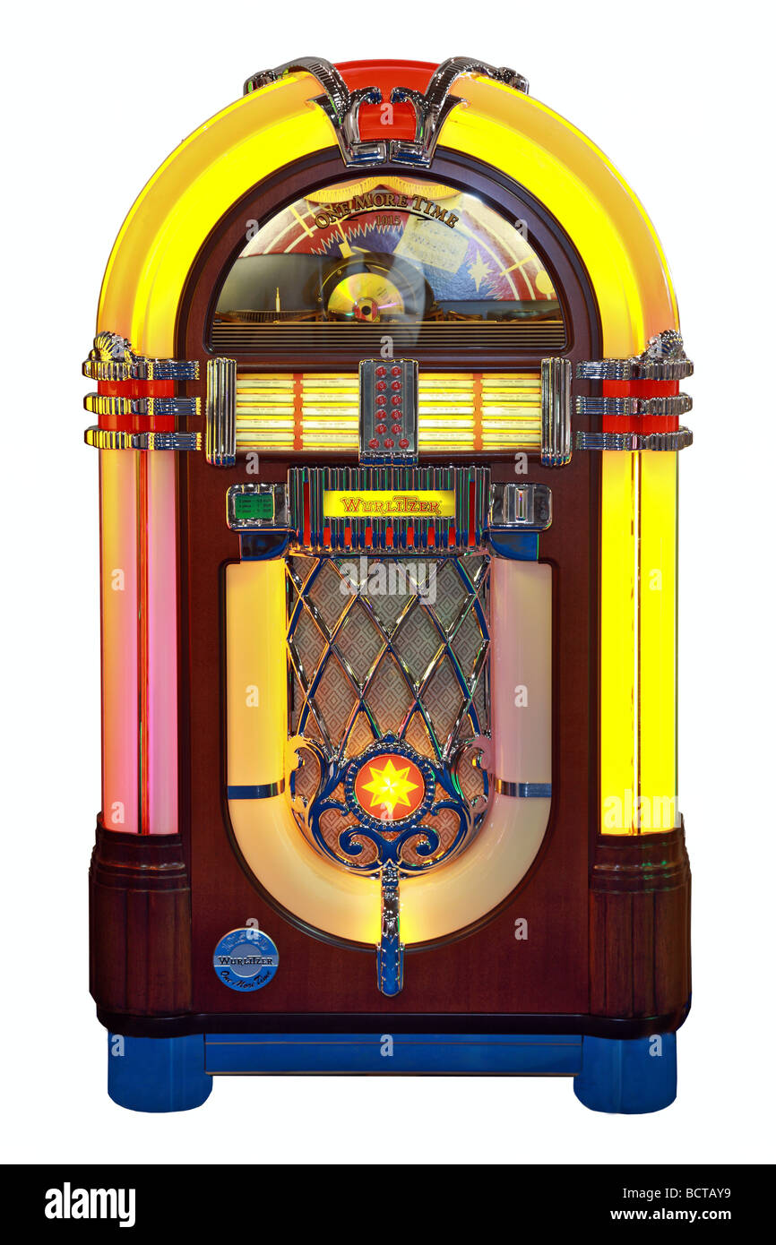 Wurlitzer One More Time 1015 replica for CD, jukebox - Stock Image