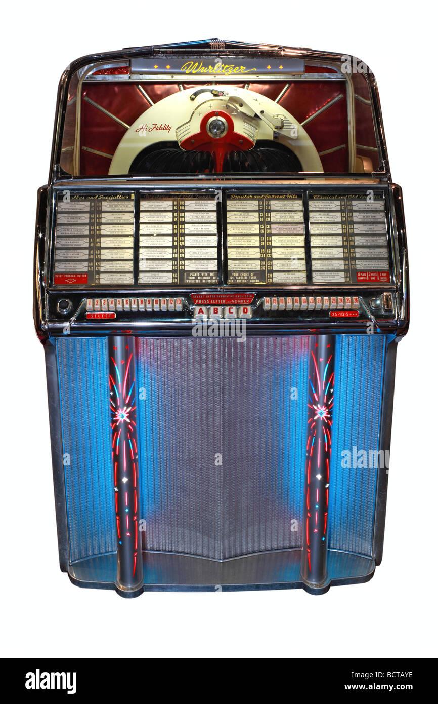 Wurlitzer 1800 built in 1954, jukebox - Stock Image