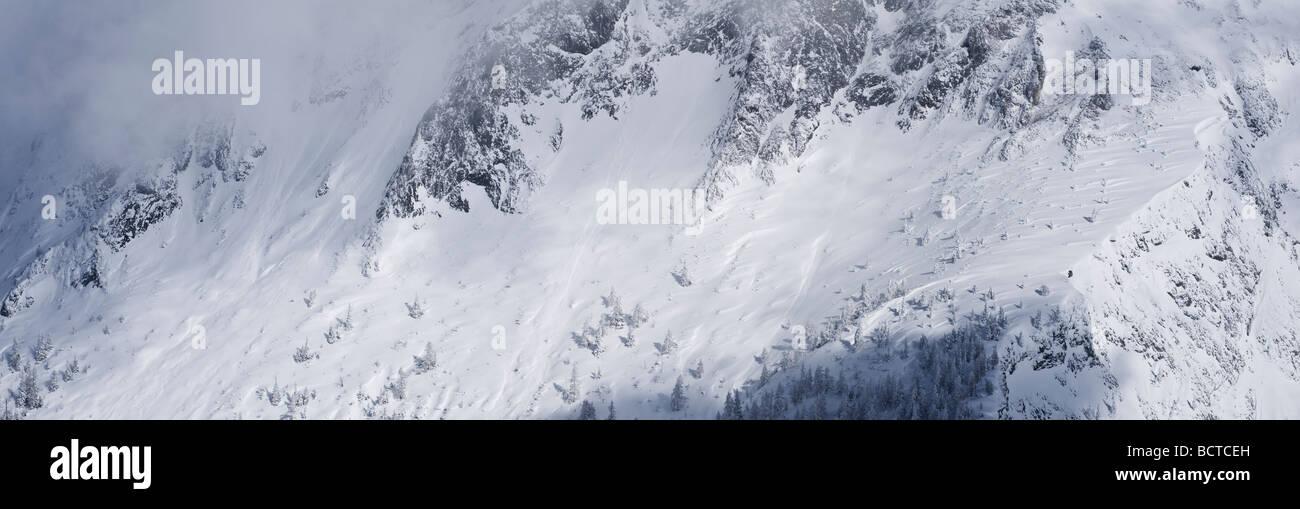Hoher Goell massif in winter, Berchtesgaden national park Bavaria, Germany Stock Photo