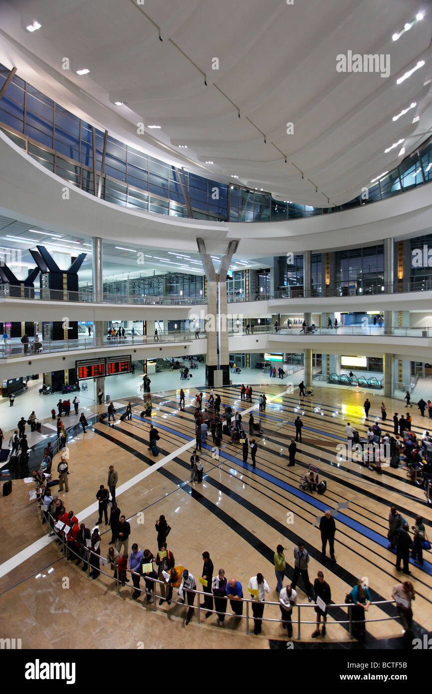 Arrival hall, O R Tambo International Airport, Johannesburg, South Africa, Africa - Stock Image