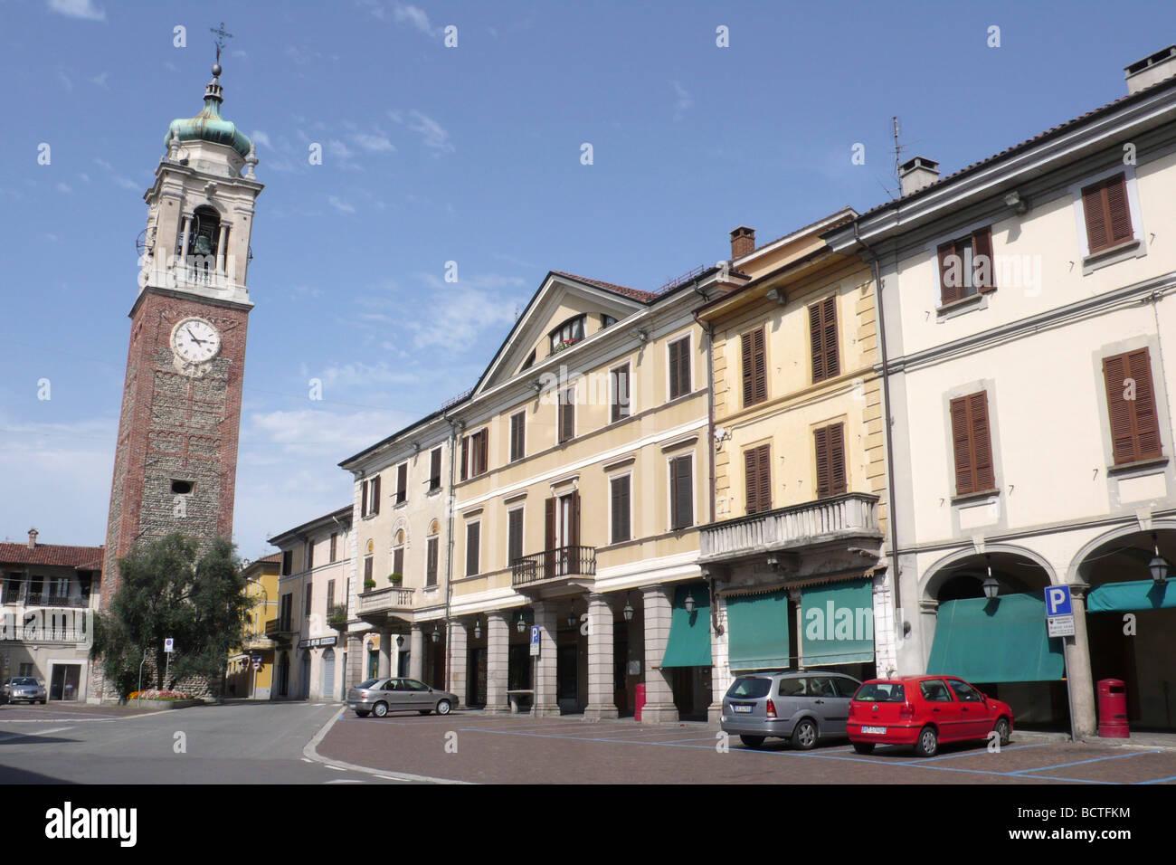 Piazza Martiri della Libertà to Oleggio Novara Italy - Stock Image