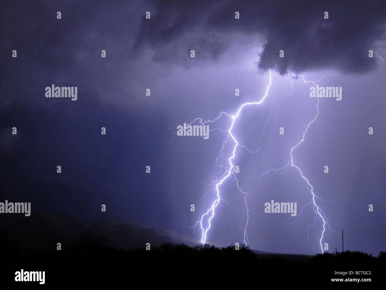 Tucson Lightning - Stock Image