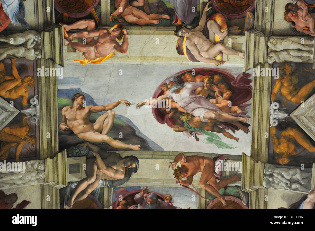 8da564727a5e Europe vatican city Vatican Museum The Creation of Adam by Michelangelo on  the ceiling of the Sistine Chapel