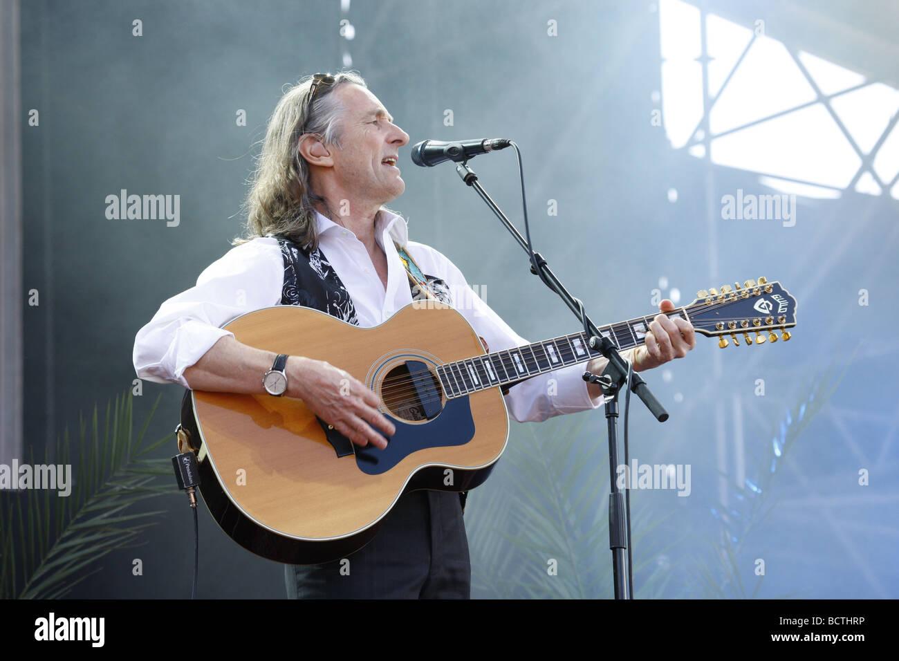 Roger Hodgson, British musician and songwriter, Open Air Festival, Muehldorf am Inn, Bavaria, Germany Stock Photo