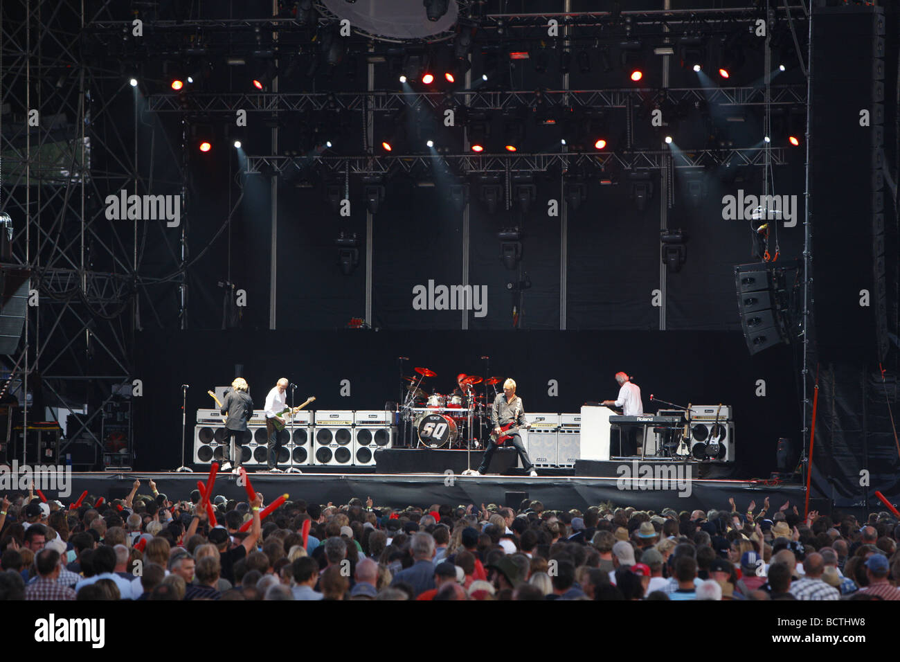 Status Quo, British rock musicians, Open Air Festival, Muehldorf am Inn, Bavaria, Germany Stock Photo