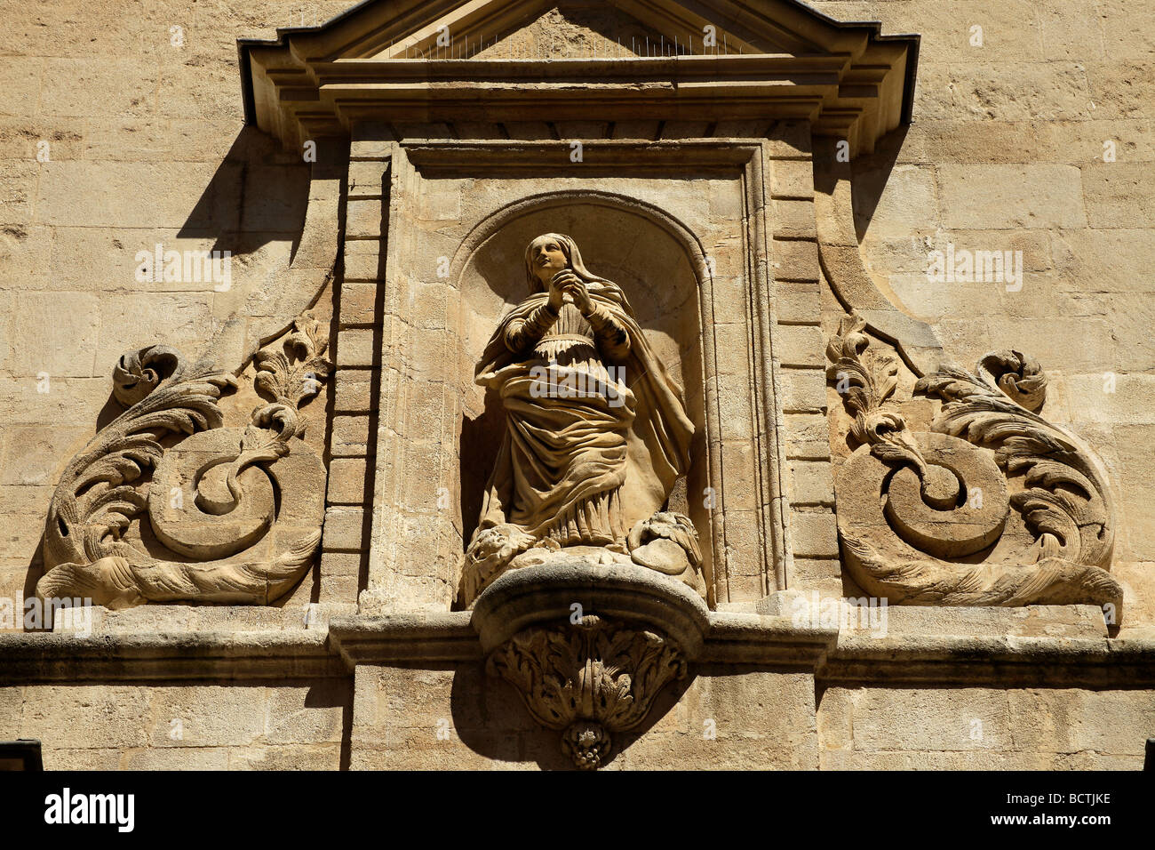 Portal of the Ancienne Cathedrale Ste-Anne Church, in Apt En Provence, France, Europe Stock Photo