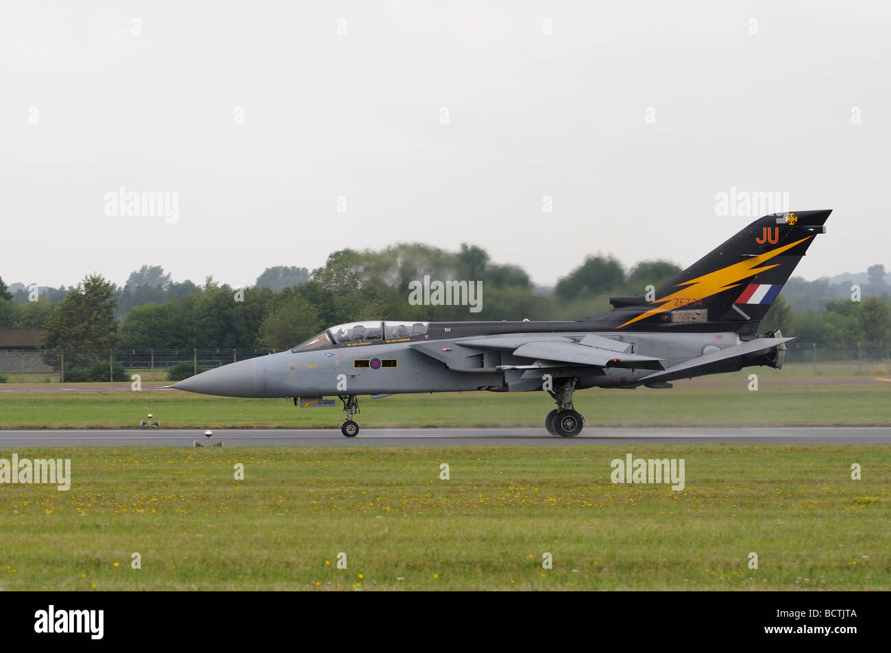Tornado F3 from 111 Squadron Leuchars  arrives at RAF Fairford for the Royal International Air Tattoo - Stock Image