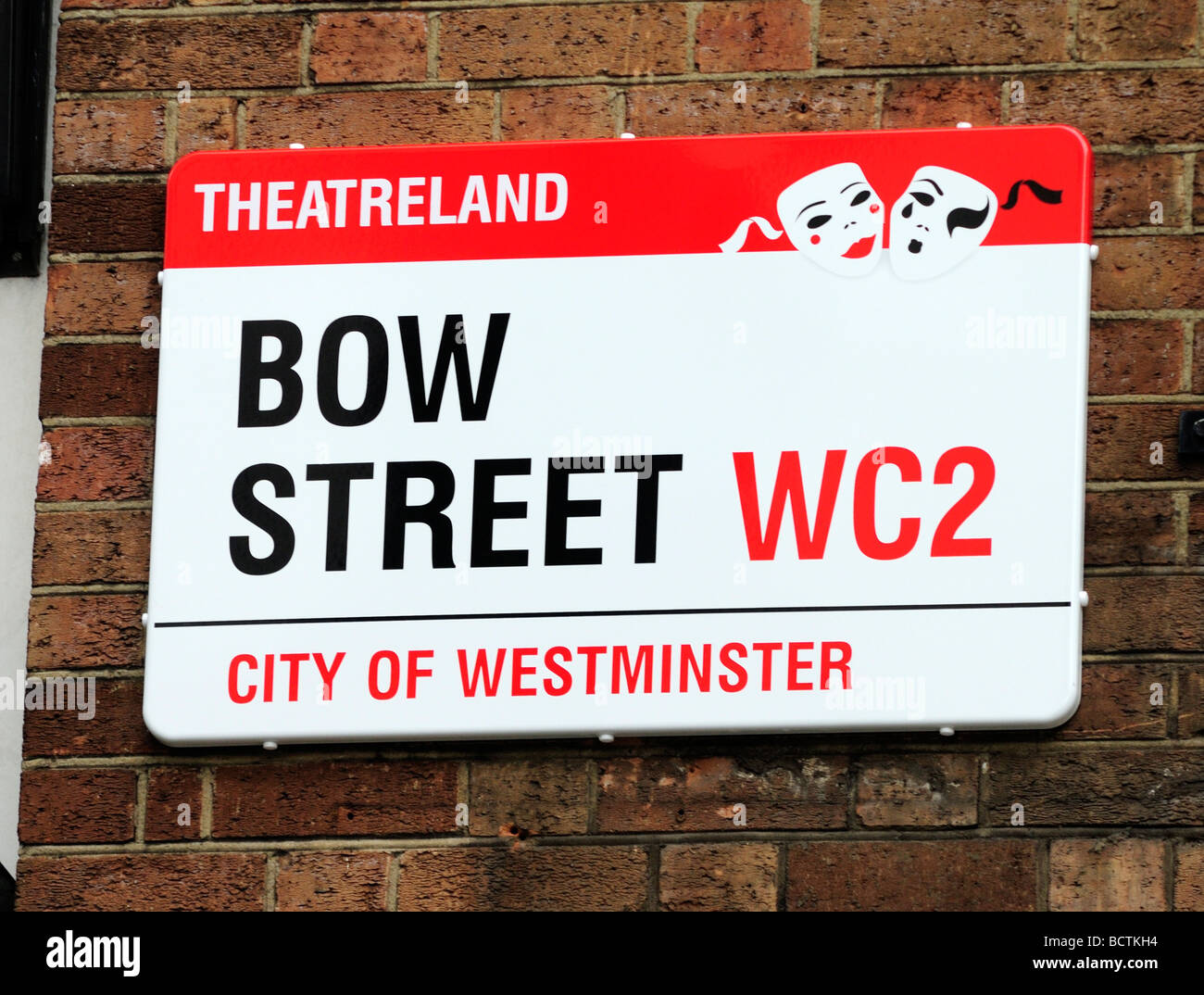 Bow Street Sign London England Britain July 09 - Stock Image
