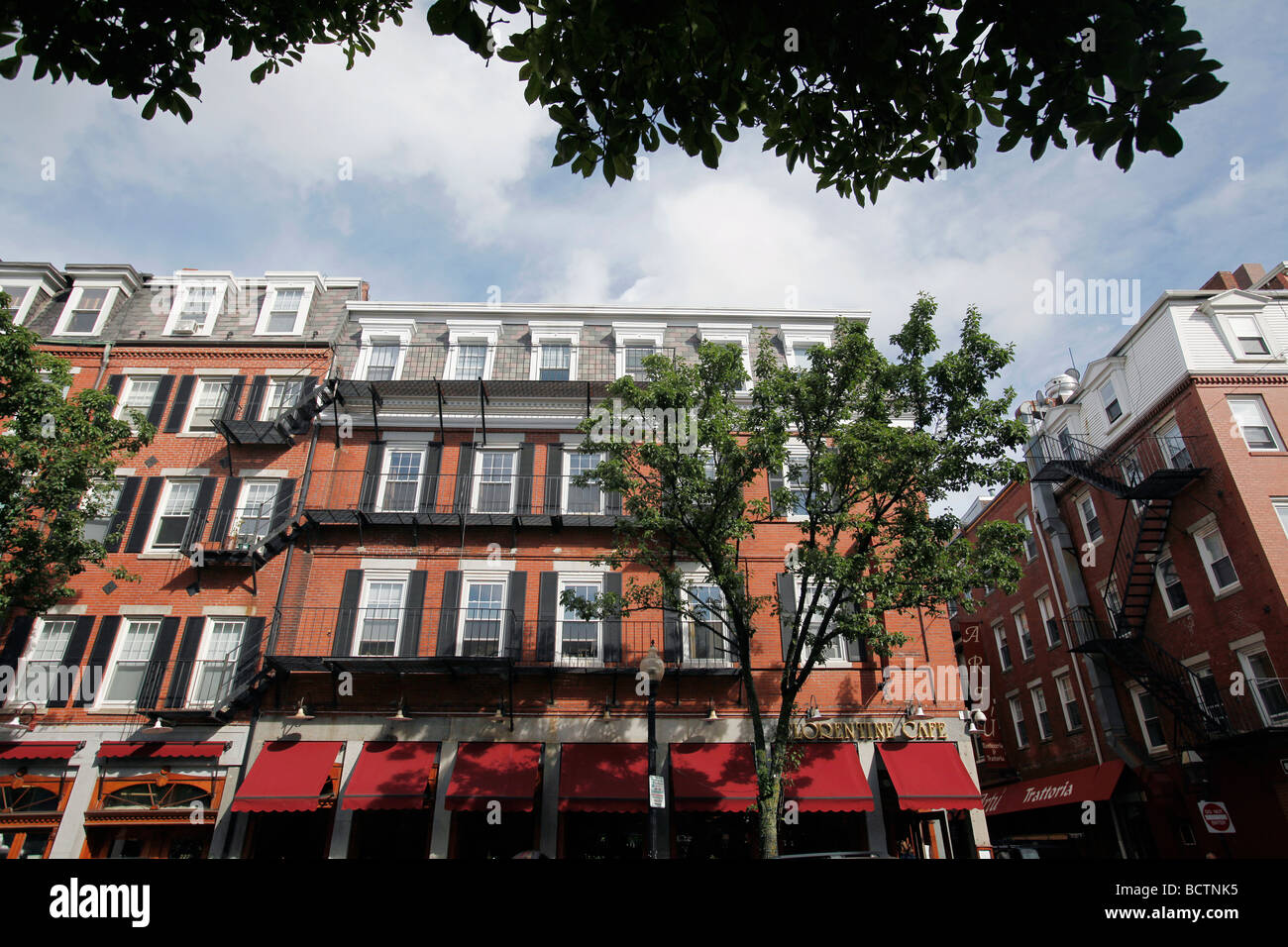 Hanover Street, Boston's North End neighborhood - Stock Image