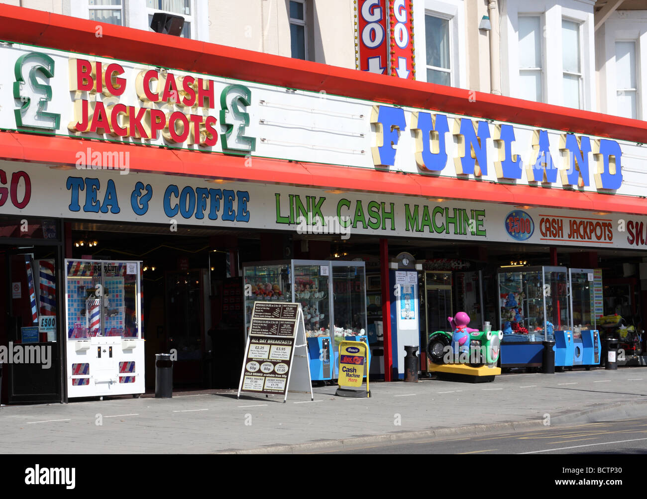 An amusement arcade in Skegness, Lincolnshire, U.K. - Stock Image