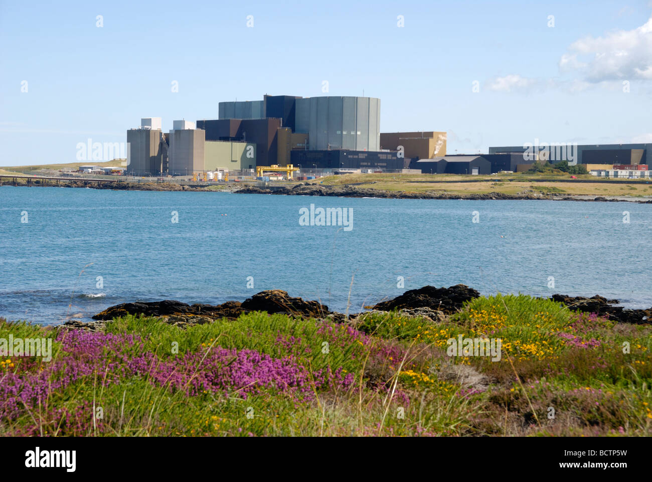Wylfa nuclear power plant Anglesey North Wales - Stock Image