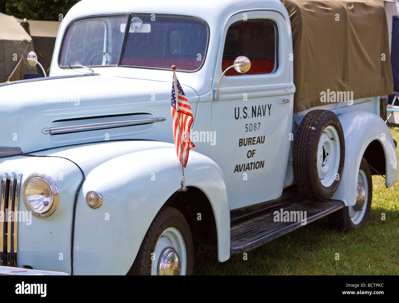 Navy Bureau of Aviation Truck - Stock Image