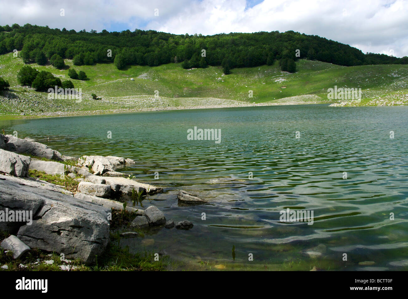 Lake of Lago Vivo, Abruzzo National Park, Italy Stock Photo ...