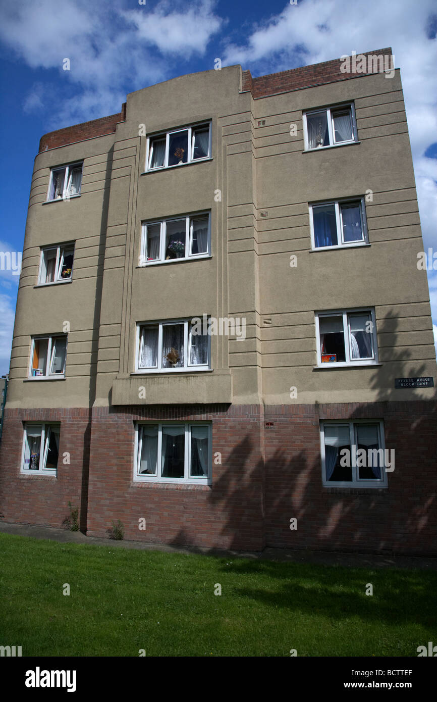 social housing development pearse house in dublins lower sandwith street inner city dublin city centre republic - Stock Image
