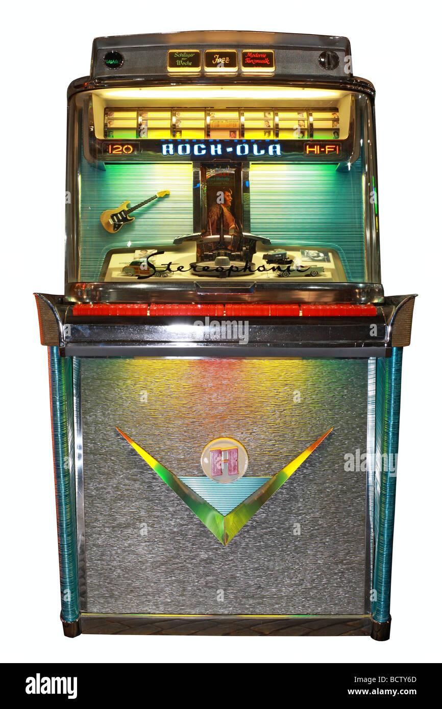 Rock-Ola Tempo Model 1468, Jukebox, 1959 - Stock Image