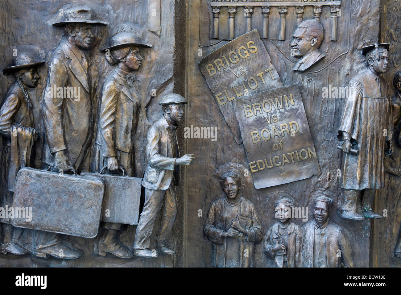 African American History Monument by Ed Dwight, State Capitol Grounds, Columbia, South Carolina, USA - Stock Image