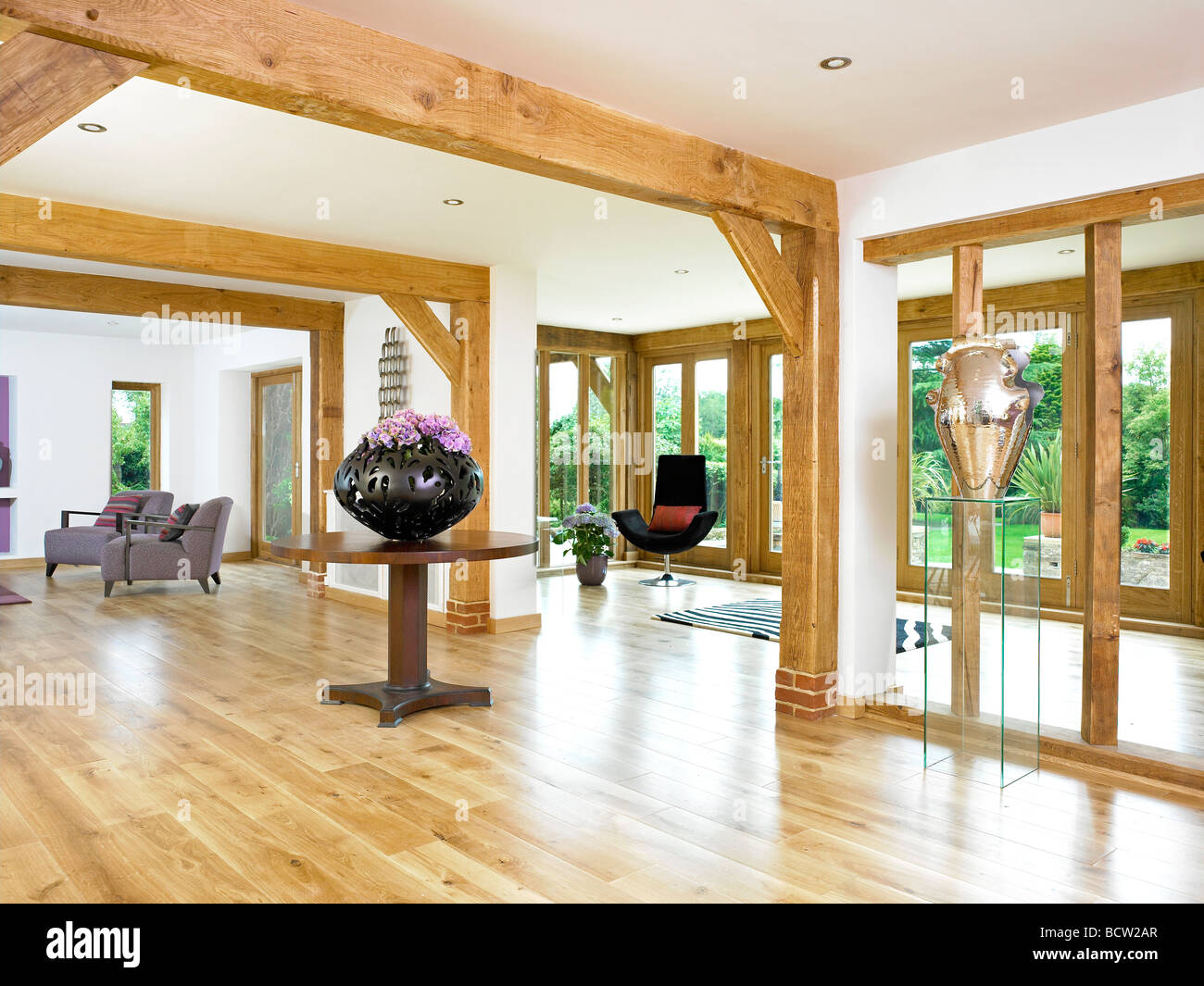A modern open plan hallway living room area within a modern stock photo 25136911 alamy for Open plan hallway and living room