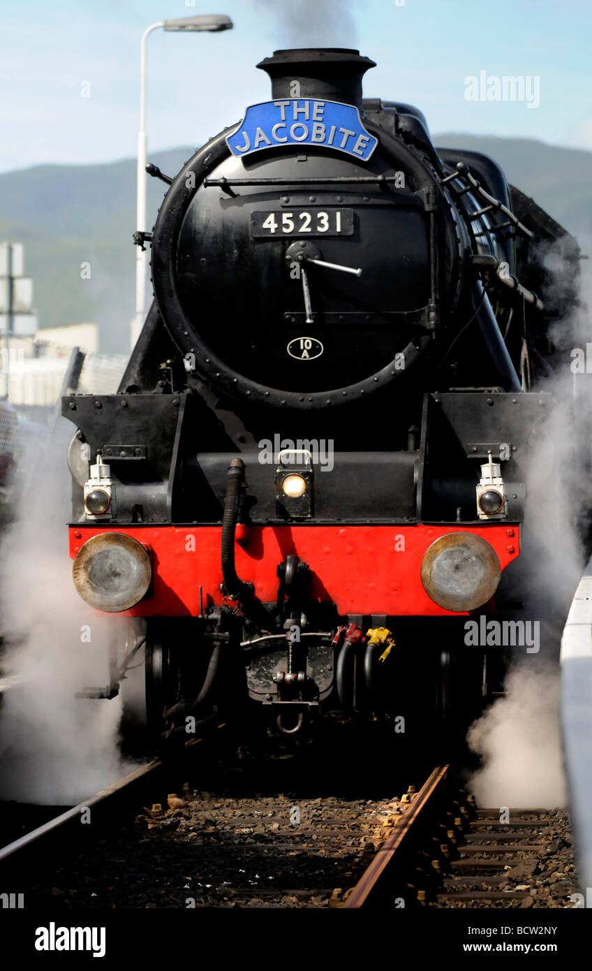 The Jacobite Steam train Journey from Fort William to Mallaig, Scotland. Run by West Coast Railways. Stock Photo