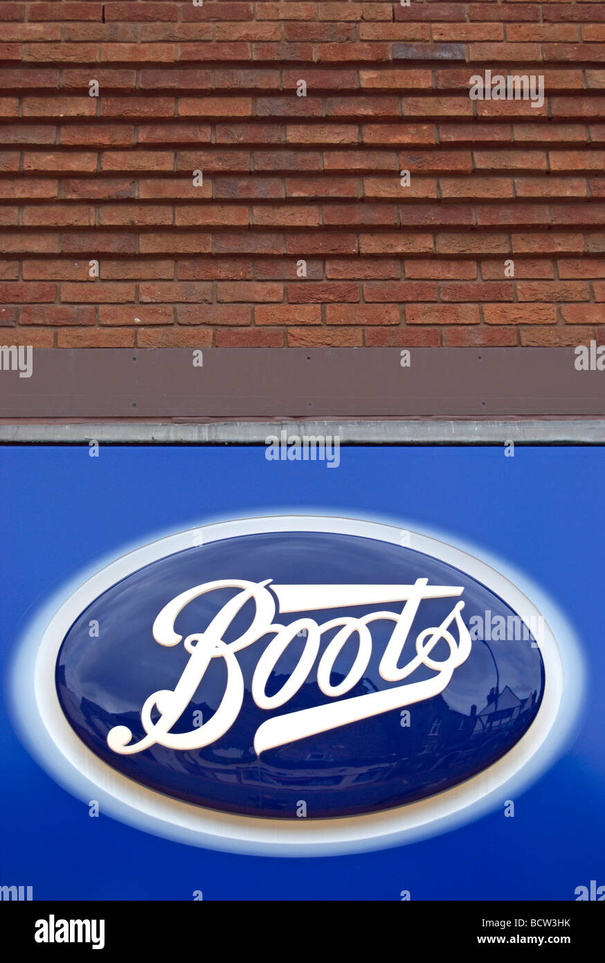 logo of  high street retailer boots the chemist - Stock Image
