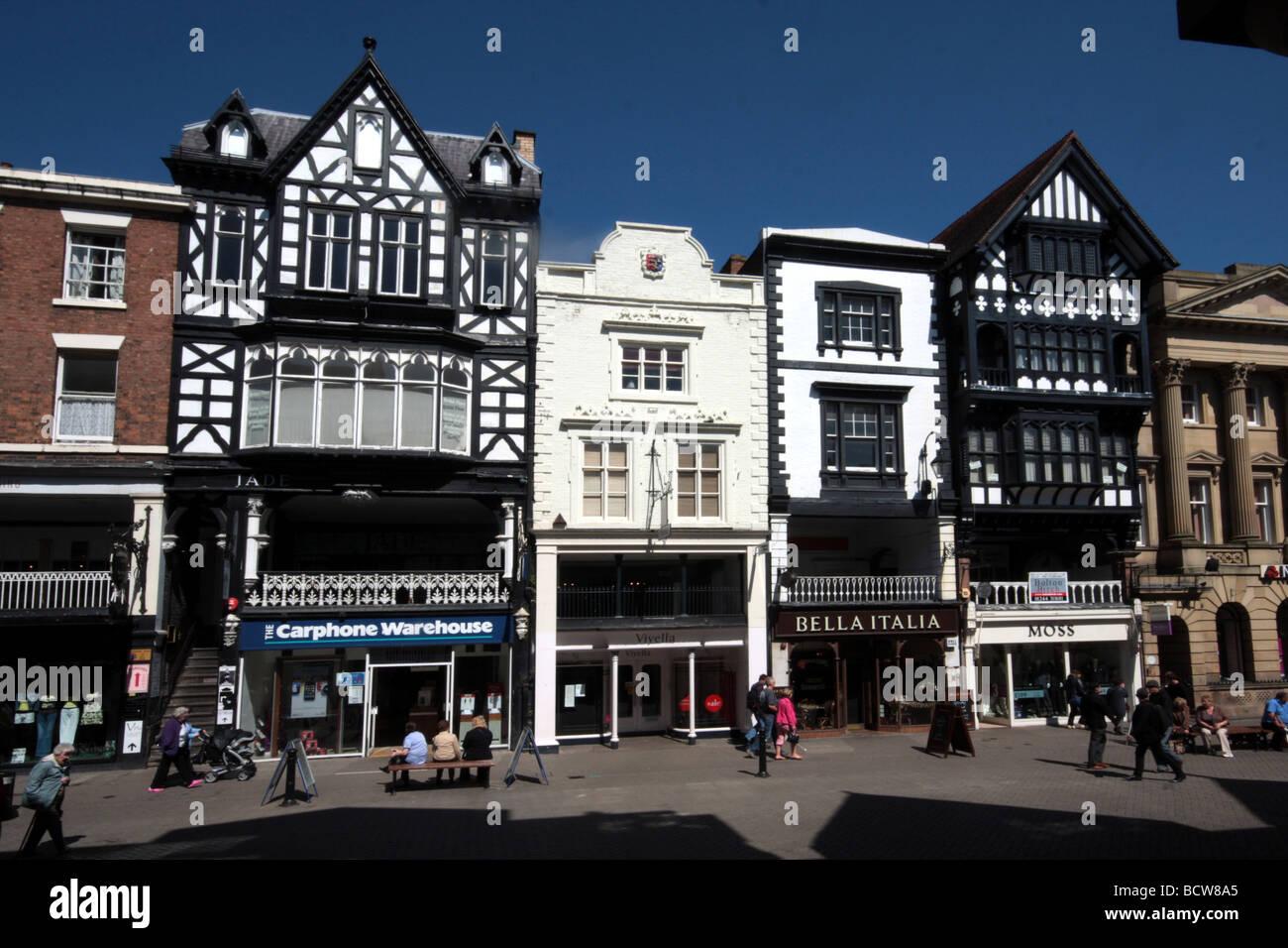 bridge street, chester, cheshire, england Stock Photo