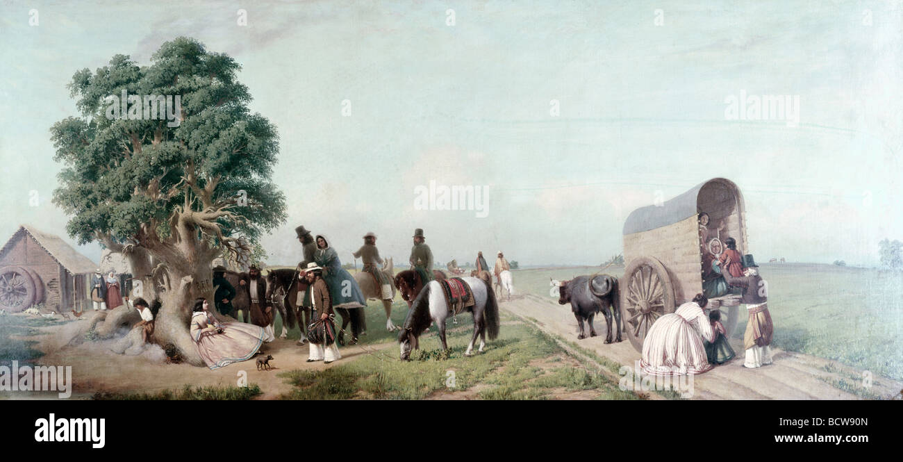 Rest in the Country by Prilidiano Pueyrredon, 1823-1870 Stock Photo